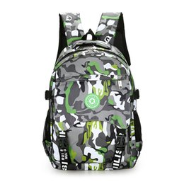 Wholesale Nylon Guy - The large capacity army camouflage backpack Waterproof nylon lightweight men travel bag Tough guy school bag for boy leisure