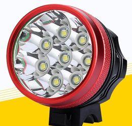 Lámpara lumen super brillante led online-Cree 8x T6 LED Super Bright 9000 Lumen Bicicleta LED Lámpara de bicicleta Luz HeadLight Luz de bicicleta impermeable con 6x 18650 Batería