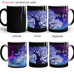 Кружка чашки зеленый эко онлайн-Экологичные Гарри Волшебные кружки после всего этого времени Всегда таинственный Фиолетовый Зеленый Дерево Жизни Летят Олень Цвет Меняющих Чашек Творческие Подарки