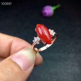 c063784bef91 KJJEAXCMY joyería fina 925 de plata pura con incrustaciones de coral rojo  natural para mujer anillo de prueba de soporte de joyería