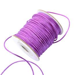 Cordon de rattail en Ligne-Hot 100yards purple 2 MM Rattail Satin Cord Macramé Perles Nylon Chinois corde de noeud