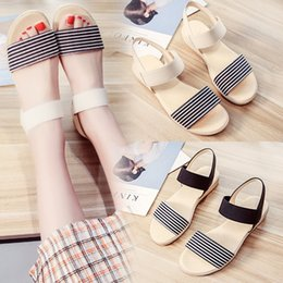 Wholesale Shoes For Pregnant - 2018 summer Korea new Korean students flat shoes Korean middle school students flat with anti-slip soft bottom sandals for pregnant women