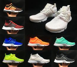 2019 marcas de calzado casual para hombres 2019 High Ultra Presto diseñador Casual Running Shoes TRIPLE BLACK chaussures Atomic Mid Hombre Mujer Zapatillas de deporte de lujo marca Sport Sneakers marcas de calzado casual para hombres baratos