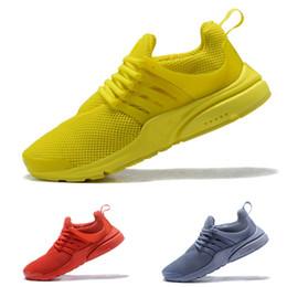 Wholesale body breathe - 2018 Running Shoes Presto 5 BR QS Womens Mens Triple white black Breathe Greedy Oreo Yellow Red blue Sneakers sport 36-45