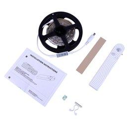 Wholesale led strip light motion sensor - LED Activated Cabinet Bed Light Motion 5V PIR Motion Sensor LED Strip 2835 Night Light Wardrobe Lamp Tape Illumination New