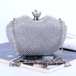 2019 diamante de manzana Bolso de noche lleno de diamantes Bolso de manzana diamante Bolso del banquete del embrague de la señora 3 colores mano de obra de alta calidad mejor precio mejor calidad