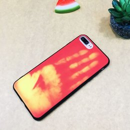 Wholesale Case For Iphone Funny - Physical Thermal Sensor Discoloration Case For iPhone 7   8 Soft Heat Sensitive Cover Funny Magic Phone Cases for iPhone 7 Plus  8Plus