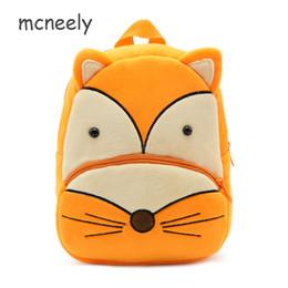 Wholesale Fox Backpacks - Lovely Plush School Bags Children Fox Cartoon Kid Backpack for Baby Girls Boys Kindergarten Kids Backpacks