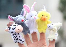 Marionetas de dedo Nuevo Bebé de Peluche al por menor Marionetas de dedo Hablando accesorios 10 grupos de animales 10pcs diferente dedo de peluche de juguete desde fabricantes