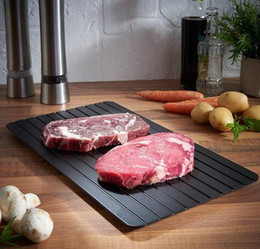 Wholesale plated food - Defrosting Tray Fast Thawing Plate Defrost Meat Frozen Tray Kitchen Defrost Meat Frozen Food Safety Tool Thaw Frozen Food In Minutes