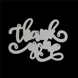 Tarjetas de felicitación diy online-Gracias Metal Cutting Dies Saludo Palabras Stencils Para DIY Tarjeta de Scrapbooking Craft Muere Decoración