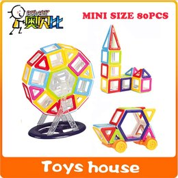 Wholesale Toy Magnets Building - 80PCS Mini Magnetic Designer building blocks toys for children Magnetic constructor build with magnets game DIY toys