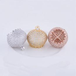 Canada Vente en gros 2018 Bijoux faits à la main Résultats de bricolage Gland Caps perles Collier raccords Mirco Pave CZ Connecteur Bracelets Fermoirs Accessoires Offre