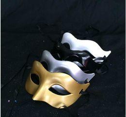 decoraciones de fiesta de la mascarada blanca negra Rebajas Mujeres Fahion Venetian Party Mask Roman Gladiator Halloween Party Máscaras para adultos Mardi Gras Masquerade Decoraciones Silver White Black)