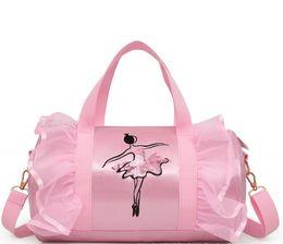 Children s dance girls Latin dance bag children s ballet shoulder bag  crossbody package pink princess bag free shipping 18737cc73494e
