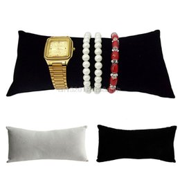 Wholesale Velvet Watch Holder Pillows - Flannel Pillow Stand Holder Bangle Bracelet Watch Jewelry Display Organizer New
