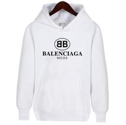 Black sweatshirt online-2019 Off Hot Sales alta calidad hombres y mujeres sueltos sudadera con capucha sudadera con capucha blanca y negra Pareja sudaderas con capucha Sudaderas