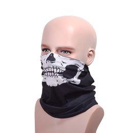 Canada Cool Crâne Design partie masques écharpe Adultes Multi couleur Sport Moto Biker Écharpe Demi Masque Masque Sport Bandeau masques Offre