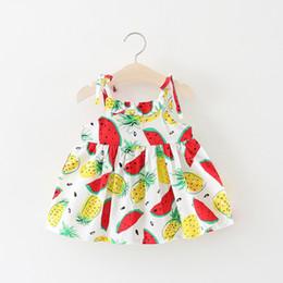 2019 девушки фруктовые платья Лето девочка маленькие дети фрукты подтяжк юбка женский ребенок хлопок платье дикая одежда V 01 скидка девушки фруктовые платья