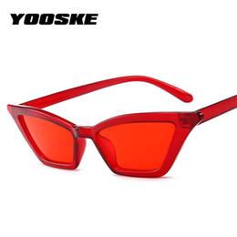 be088f2d099e5 YOOSKE Óculos De Sol Das Mulheres Do Vintage Olho de Gato de Luxo Da Marca  Designer de Óculos de Sol Das Senhoras Cateye Óculos De Sol Retro Preto  Vermelho ...