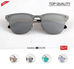 Wholesale Boys White Coat - Top quality Luxury Brand Designer Clubs 3576 Sunglasses UV400 Blaze Rose Gold Top Flat Lens Coating Half Frame G15 Lentes Mujer flash gafas