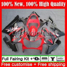 Honda cbr 929 rr verkleidungen online-Körper für HONDA CBR900 RR CBR 929RR CBR900RR CBR929RR 00 01 54MT0 CBR 929 RR CBR900RR Lager rot blk CBR929 RR 2000 2001 Verkleidung Karosserie