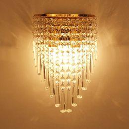 Wholesale Led Crystal Wall Sconce - Creative crystal E14 led wall lamps modern light fixture luminous lighting sconce AC85-265V Edison bulb Wall lights decorate