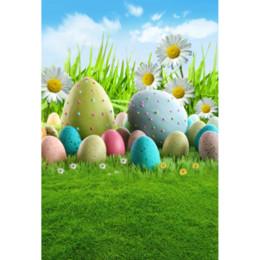 2019 computador, pintado, fundos Laeacco Easter Eggs Flores Gramados Bebê Recém-nascido Fotografia Fundos de Vinil Personalizado Backdrops Fotográficos Para Estúdio de Fotografia