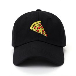 Wholesale Trucker Hat Embroidery - 2017 New Pizza Embroidery Baseball Cap Trucker Hat For Women Men Unisex Adjustable Size Dad Cap Hats