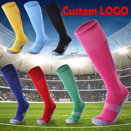 Wholesale Red Logs - Custom LOG Non-Slip Stripes Football Socks Sweat-Absorbent Wearable Socks for Women & Men Fit Running Basketball 18 Styles Free DHL G483Q