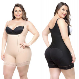 Più bodysuits online-A buon mercato Plus Size Donne Body Shapers Shapewear Underbust Corsetto Vita Cincher Trainer Tute Slim Butt Lifter Shapers CPA1122