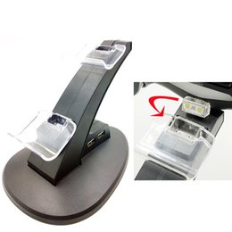 xbox ein wiederaufladbar Rabatt 2018 DUAL Neue Ankunft LED USB ChargeDock Docking Cradle Station stehen für drahtlose Sony Playstation 4 PS4 Spiel Controller Ladegerät