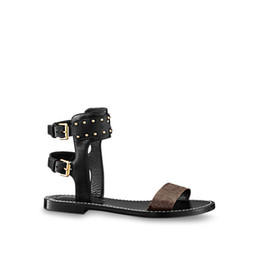 Wholesale Ladies New Style Sandal - 2018 summer new style Discount designer womens fashion gladiator sandals brown comfortable Female sandals leather Ladies walking sandals