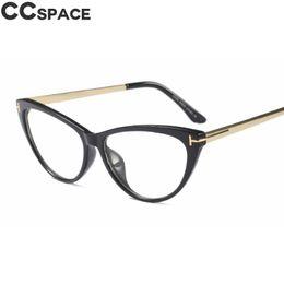 6040c00dd0d Women Retro Cat Eye Glasses Frames Oval Metal Legs Brand Designer  Eyeglasses Optical Fashion Near Sighted Computer Glasses 45619