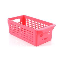 Productos de plástico de tamaño mediano Cocina Moda Smiley Hollow Cesta de almacenamiento creativa de frutas y verduras Hogar Hogar de escritorio desde fabricantes