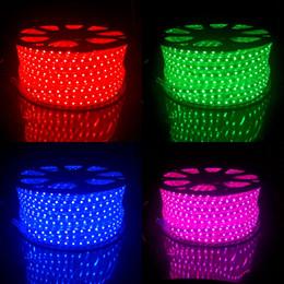 2019 rosh a mené la lumière de bande 100 mètres de bande LED RGB CA 220 V 240 V Extérieur Étanche IP67 Light Ruban 100 M SMD 5050 Tube à ruban flexible Lampara CE ROSH rosh a mené la lumière de bande pas cher