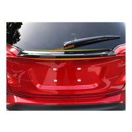 Carbonio posteriore del spoiler online-Carrozzeria ABS Matte / fibra di carbonio Posteriore coda Spoiler lato triangolo ala finestra cornice lunetta Autoadesivo 1 pz Per TOYOTA C-HR CHR 2017 2018