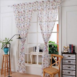 Wholesale French Pattern Fabric - Imixlot 1 pc Owl Pattern Curtains for Windows Drapes European Modern Shade Curtain for Living Room Bedroom Accessories