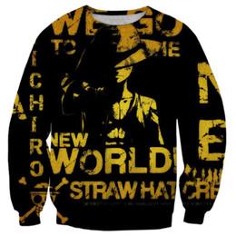 Argentina 2017 NUEVA moda hombres mujeres tops fresco impresión en 3D One Piece New World Wallpaper caliente estilo sudadera hechicera suéter streetwear supplier wallpaper pieces Suministro