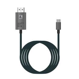 Canada USB type C à HDMI USB 3.1 Câble d'extension adaptateur de transfert de données 4K pour téléphone mobile S8 câble HD 2M Offre