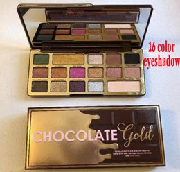 Wholesale Gold Palette - Faced Makeup Palette COCOA Eye Shadow Chocolate Gold Eyeshadow Palette 16 colors metallic matte natural eyeshadow palette