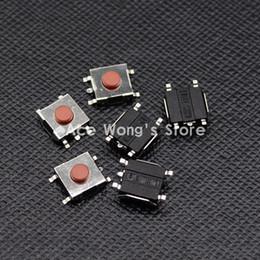 Interruptor de botão momentâneo vermelho on-line-Frete grátis 100 PCS SMD 5Pin 6X6X3.1 MM Vermelho Tactile Tact Botão Interruptor Micro Momentary
