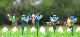 Solar Power Dancing Flying Butterflies Vibrazioni Fly Hummingbird Flying Birds Giardino Decorazione Giocattoli divertenti da