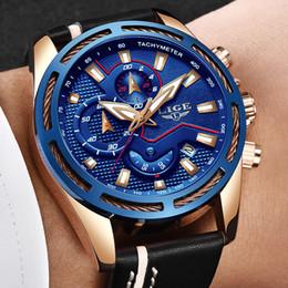 Зрелая кожа онлайн-Relojes 2018 LIGE mature men's top  leather automatic date quartz watch men's waterproof sports clock