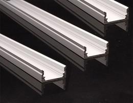 Led-schienenleuchten online-2018 50set / lot Led Aluminium Profil Kanal, LED Streifen Licht Montage Kanal Track Profile für Deckenanhänger oder Wand oder Boden