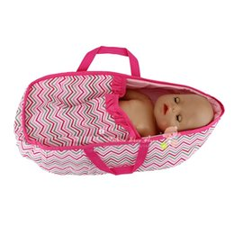 Wholesale zapf dolls - High quality Doll accessories red grid sleeping bag Wear fit 43cm Baby Born zapf(only sell bag)