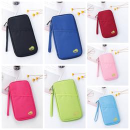 Wholesale multifunctional purse - Hot Travel Passport Credit ID Card Cash Holder Organizer Wallet Purse Case Bag Multifunctional Document Package DDA657