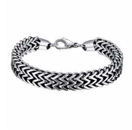 Pulsera hombre serpiente acero inoxidable. online-Pulseras para hombre Brazaletes Envío de la gota 5 * 12mm316L de acero inoxidable de doble cara de la cadena de la serpiente para mujer pulsera regalo de la joyería pulseira