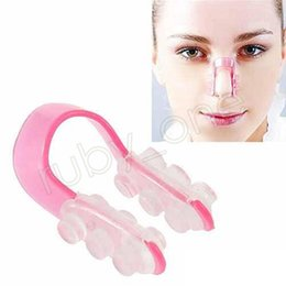 Wholesale lift nose - Magic Nose Up Silicone Clip Lifting Shaping Clipper Nose Clamp pink no pain Nose Reshaper Beauty Tool GGA554 120pcs