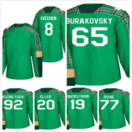 St. Patricks 2018 Stanley Cup Champion Capitals Alex Ovechkin Andre  Burakovsky Evgeny Kuznetsov Lars Eller Backstrom 77 Oshie Hockey Jersey  capital jerseys ... 65967f0a206c